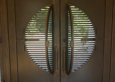 Bauhaus inspired entry door