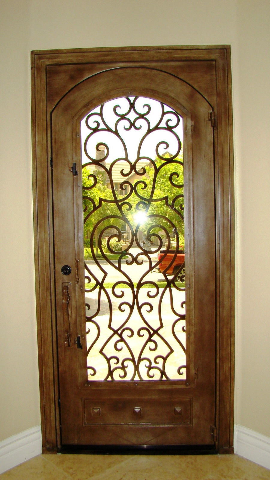 Wrought Iron Entry Doors Single Door Sd38003 38 Vrde Studio
