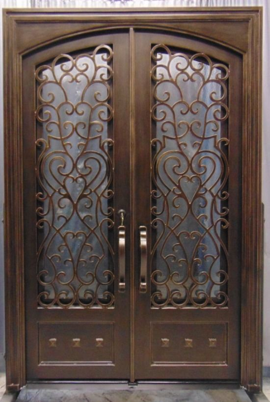 Wrought Iron Entry Doors Double Door Sd38003 68 Vrde Studio