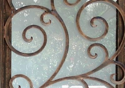 glass frosted iron door